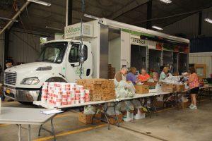foodbankst volunteers sorting food outside of a mobile food pantry truck 300x200 - foodbankst-volunteers-sorting-food-outside-of-a-mobile-food-pantry-truck